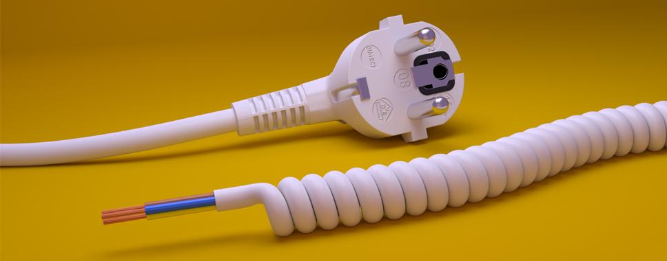 Przewód spiralny z wtyczką - SIMECH, producent kabli