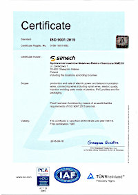 CERTIFICATE Management system as per EN ISO 9001:2015 SIMECH
